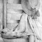 Silla dibujada con lápiz de grafito por Elena Robredo