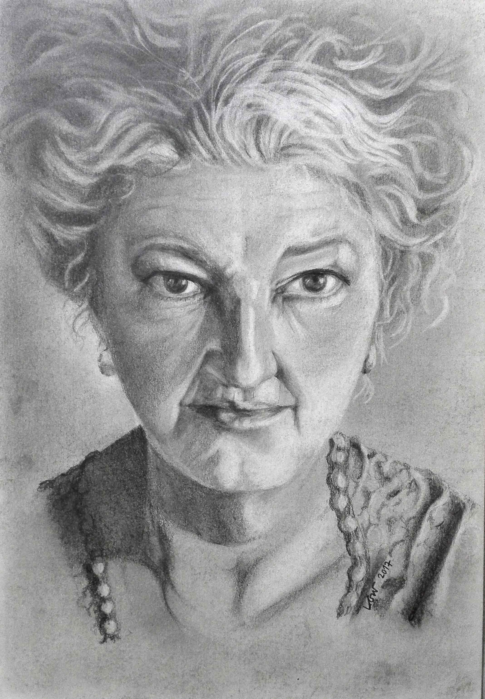 Retrato de Noemí (lápiz)