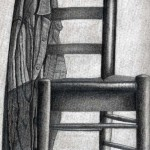 Silla dibujada con lápiz de grafito por Manuel Jurado