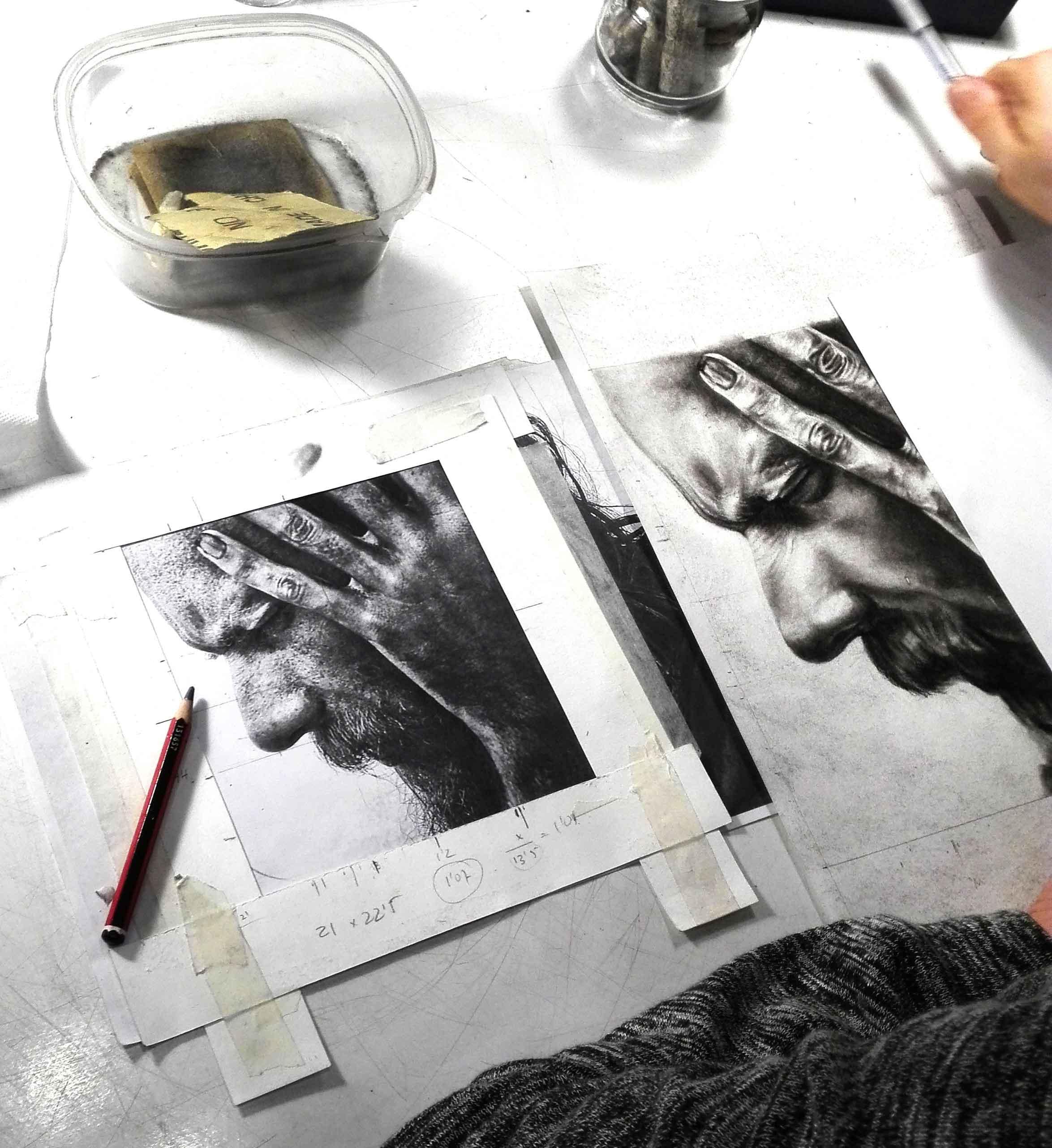 Lorena (carboncillo y lápiz carbón)